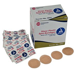 sterile sheer plastic bandage